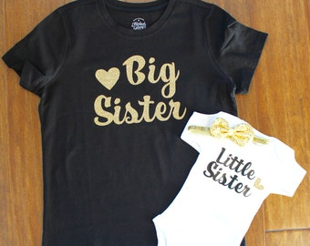 Big Sister shirt, little Sister shirt, Big Sister Little sister shirt set. Big Brother, Little Sister, Sibling Shirt, Big Sister Shirt,