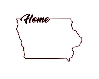 Iowa Outline Etsy