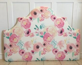 FULL Upholstered Headboard Floral