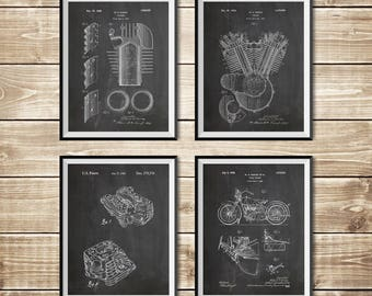 Harley Wall Decor, Patent Print Group, Harley Art Print, Harley Wall Print, Model JD Patent, Model Jd Poster, Harley Poster,INSTANT DOWNLOAD