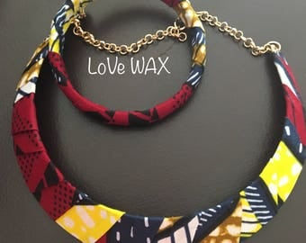 Set necklace and bracelet WAX earth