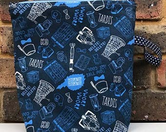Dr Who-  Zippered Project Bag