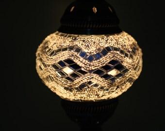 Turkish Table Lamp: Mosaic Lamp,Turkish Lamp,Mosaic Table Lamp,Mosaic Lighting,Floor Lamp,Mosaic  Lamps,Ottoman Lamps,Turkish Mosaic Lamp,White,Lighting