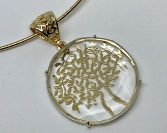 Tree of Life with Crystal  - 18k Gold Filled