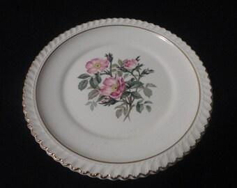 Set of 2 Vintage Harker Pottery 22 K Gold Dessert Plates