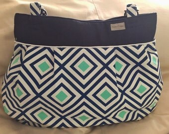Best Baby Bag Ever!  Baby - Mama Combo Bag!  Diamond pattern diaper bag - toddler bag - READY TO SHIP!