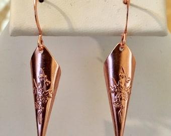 Copper-Plated Brass Cone Earrings