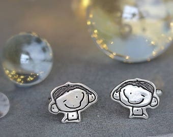 Little Picasso Cufflinks - Personalised Cufflinks - Children's Drawings - Fathers Day Gift - Dad Jewellery - Gift For Daddy