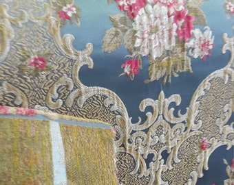FedEx!!!by the Meter,Yard,Damask,Chenille,Jacquard,Turkish,Ottoman Style,Exclusive Chenille Upholstery Fabric, Fabric-FRZ