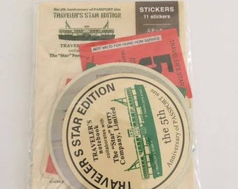 The 5th Anniversary of Traveler's Notebook Star Edition Sticker Star Ferry LTD TRAVELER'S COMPANY Rare Made in Japan