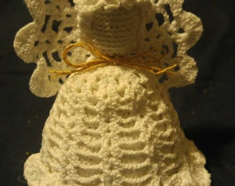 Small crocheted shelf angel.