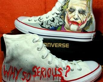 "Converse Joker ""Why so Serious""   Custom Converse"
