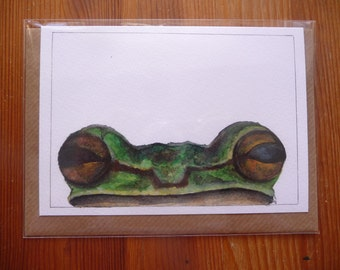 Frog greetings card A6