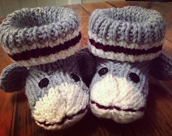 Sock Monkey slippers for youth & adults