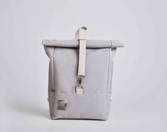 Handmade canvas backpack / water-repellent/