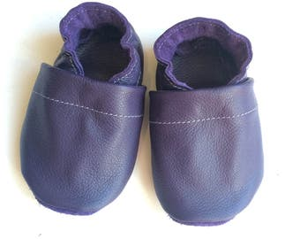 Purple baby shoes, purple toddler shoes, easter baby shoes, baby girl shoes, baby shoes, toddler mocs, purple baby mocs, baby moccasin