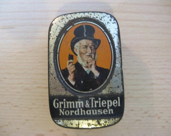 Antique tin Grimm & Triepel Nordhausen for at least 30 years ...