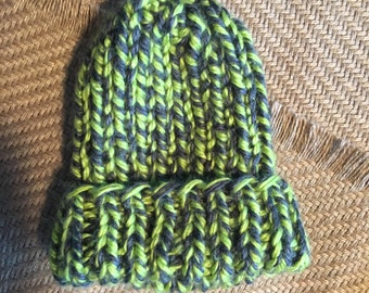 Cozy lime green hat, child