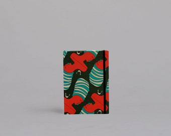 A5 Hardcover Notebook - African Lady Green