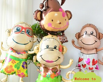 4pcs / lot high-quality children's toys monkey aluminum balloons birthday party balloons wholesale suits