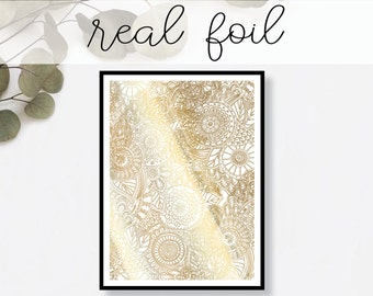Abstract Floral Print // Real Gold Foil // Minimal // Gold Foil Art Print // Home Decor // Modern Office Print // Typography // Fashion