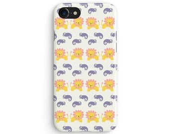 Kids chameleon and lion - iPhone 7 case, Samsung Galaxy S7 case, iPhone 6, iPhone 7 plus, iPhone SE, iPhone 5S, 1C077A