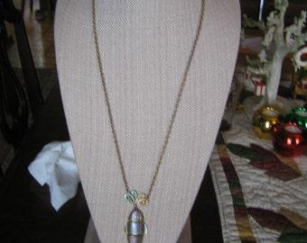 Vintage Tarnished Copper Fish Pendant Necklace