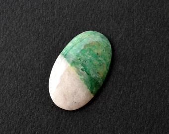 37 x 22 x 5 mm  Listwanite, Listwenite natural stone cabochon