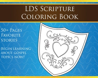 Book of Mormon and Bible Coloring Book | Scripture Prints for Family Home Evening | FHE | LDS Gifts
