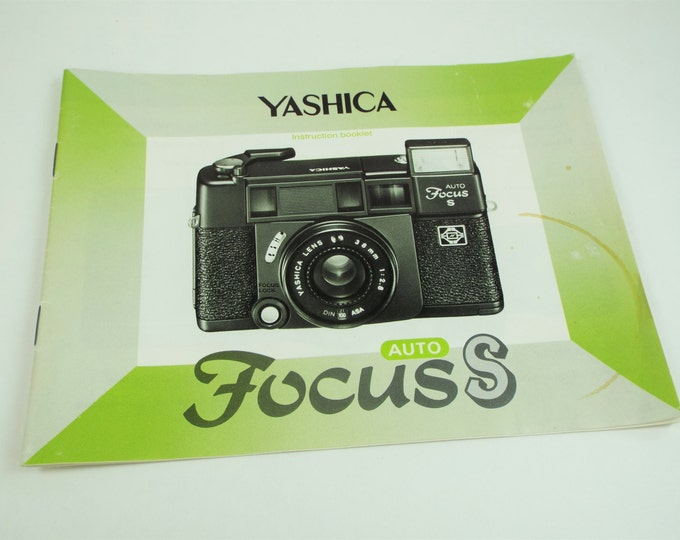 Vintage Yashica Model Auto Focus S 35mm Camera Instructions - Owner's Manual - Original & Genuine - Big 19 Pages - Excellent Condition
