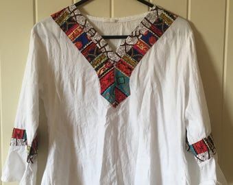 Vintage cotton blouse hippie bohemian