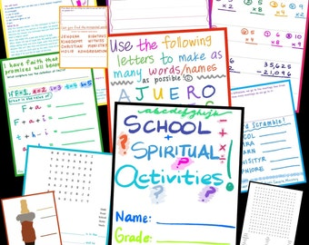 SUPER PACK #5 School plus Spiritual Activities >>>Over 20 ACTIVITIES!<<< for Jehovah's Witnesses - Made by Teacher
