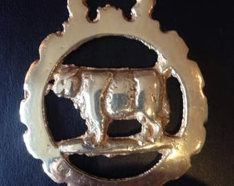 Vintage Horse Brass, solid brass decorative item