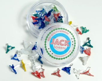 Jack Style Glass Screens ( 50 count) for pipes with container