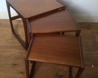 Teak Nest Of Tables 60s 70s Retro Mid Century