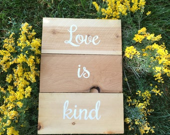 Love is Patient Series, Wedding Display, First Corinthians, 10 Wood Sign Series