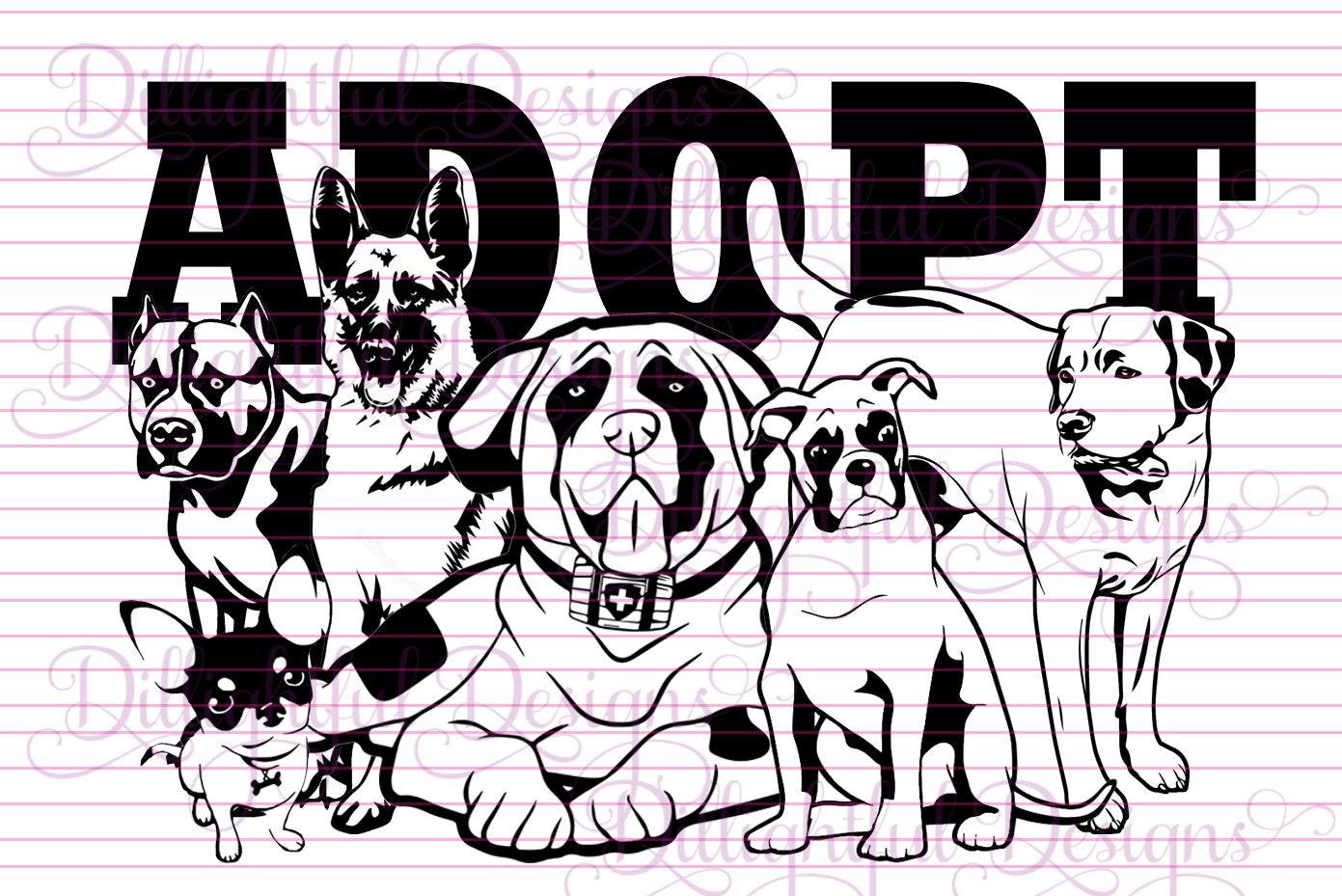 SPECIAL Animal Rescue Pet Adoption Adopt a DOG svg Decal Digital