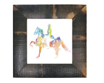Saddlebred Sunset Art Print
