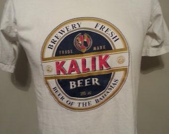 Vintage 90's Kalik Beer Brewery of The Bahmas T Shirt Size Medium Accademia