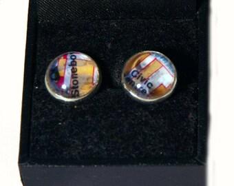 Earrings Cabochons map / Ohrringe