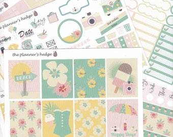 Summer Days, Weekly, a-la-cart, Planner Stickers