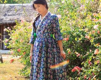 Bouquet Cheollik dress - blue