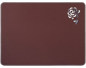 Superior Burgundy Table Placemats / Table Mats / Dining Placemats Sets / Rose Placemats  Table Accessories Gift