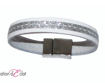 Leather Bracelet (watch the length of the bracelet is 17 cm)