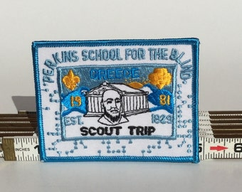 Perkins School For The Blind Scout Trip Patch 1981