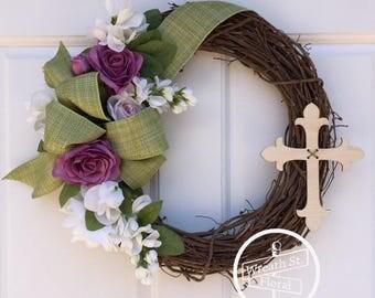 Memorial Wreath, Sympathy Wreath, Gravesite Flowers, Cemetery Wreath, Wreath Street Floral, Cemetery Flowers, Funeral Wreath