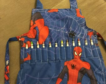 Children's crayon craft aprons