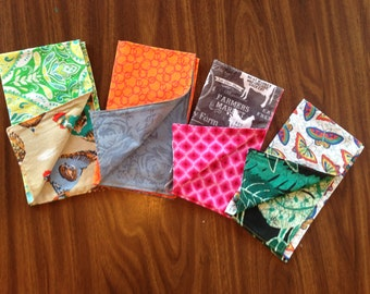 Funky, double-sided cloth napkins