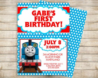 Thomas the Train | Thomas and Friends Party Invitation