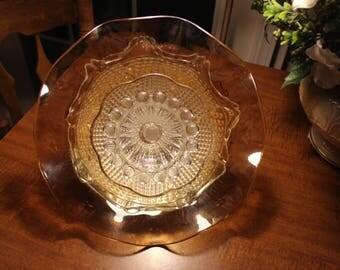 Garden Flower / Glass Garden Art / Vintage Recycled Glass / Yard Art / Suncatcher / Gardener Gift